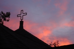 Sunset Chapel Cross